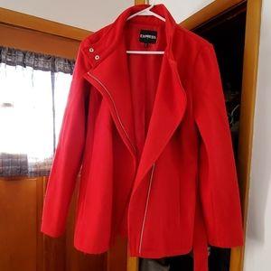 Express red Pea coat